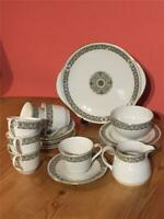 Royal Doulton Celtic Jewel Tea Service 6 X Cup & Saucer & Jug Bowl Serving Plate