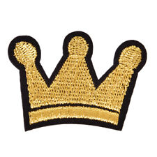 Crown IronOn Patch Sewing Embroidered Applique Fabric Badge Jacket Coat DecorHGU