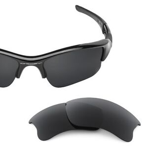 Fit&See Polarized Black Replacement Lenses for Oakley Flak 2XL