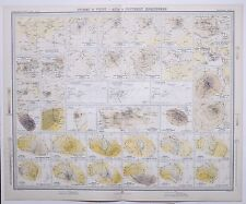1899 LARGE WEATHER METEOROLOGY MAP STORMS & WINDS ASIA & SOUTHERN HEMISPHERE