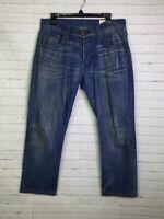 Rag & Bone Mens Size 31 Fit 3 Slim Straight Leg Denim Jeans Hemmed Inseam 26