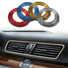 5M DIY Flexible Car Grille Interior Decoration Moulding Trim Strip Line 4 Colour