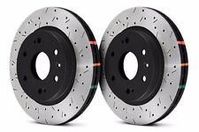 DBA REAR DRILLED & SLOTTED BRAKE ROTORS FOR NISSAN 370Z INFINITI G37 G37S SPORT