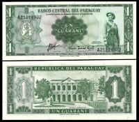 PARAGUAY 1 Guarani, 1952, P-193, UNC World Currency
