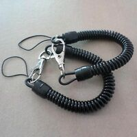 Plastic Retractable Spring Coil Spiral Stretch Chain Keychain Key Ring Set 2pcs