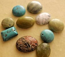MIX GEMSTONE GLASS DROP BEADS(NATURAL/DYED/IMITATION)10 PCS, 14X14-25 MM