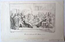 Lithographie de Bouteiller d'ap Poussin,Moise & Pharaon