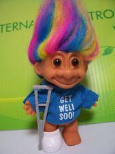 """GET WELL SOON w/CAST & CRUTCH - 5"""" Russ Troll Doll - NEW IN ORIGINAL WRAPPER"""