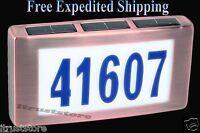 Solar LED Light House Street Address Numbers Plaque Sign Illuminated
