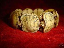 wonderful Rare Carved Bone Turtle Bracelet
