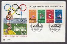 Bund Block 8 FDC Ersttagsbrief Olympiade