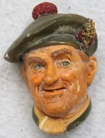 Bossons Ornament Head Decorative 1969 Jock Figure Wall Mount Hand Painted Face