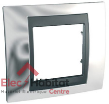 Plaque simple Unica Top graphite chrome brillant MGU66.002.210
