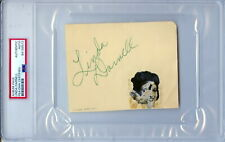 LINDA DARNELL (1923-1965) Autograph Album Page PSA DNA Encapsulated Slabbed