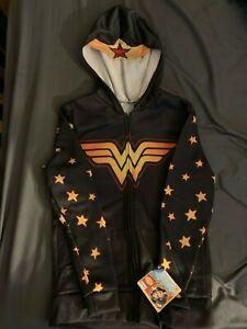 NWT DC Comics Wonder Woman Costume Zipper Jacket Hoodie