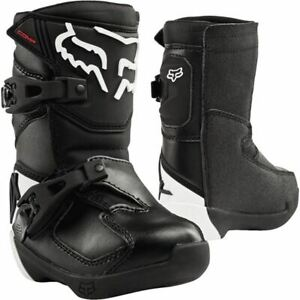 Fox Racing Comp K Pee Wee Boots - Black, All Sizes