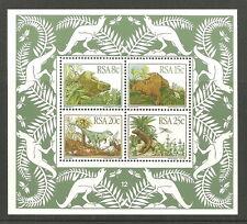 Afrique du sud - Préhistorique Tiere (Animaux) 1982 menthe Bloc 14 Mi. 622-625
