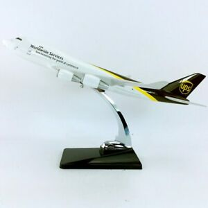 B747-400 Alloy Airplane 1:195 UPS World Wide Service Airlines Model Display 32cm