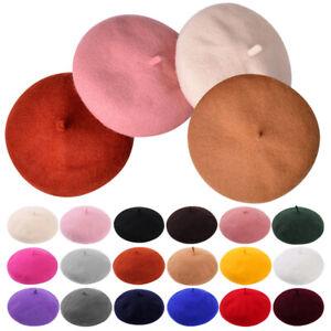 Retro Ladies Beret Hat Women Felt Beret Girls Beret Slouchy Winter Dress Match
