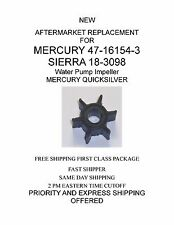 NEW 47-16154-3  AFTERMARKET REPLACEMENT Water Pump Impeller MERCURY QUICKSILVER
