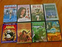 8 DVD Lot Jewel Case INDEPENDENCE RUDY RALPH KUNG FU PANDA HULK MOHICAN SERENITY