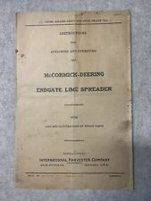 Mccormick Deering Endgate Lime Spreader Instructions
