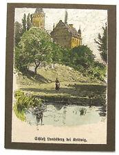 Ratingen-Château travailleurs-Kettwig. Origine KOLORIERTER Gravure sur Bois 1890