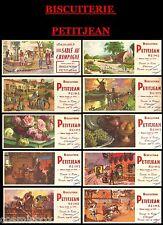 Lot 10 buvards anciens BISCUITERIE PETITJEAN publicité pub corrida moulin ours