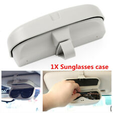 1X ABS Plastic Car Sun Visor Sunglasses Glasses Holder Card Ticket Pen Clip Gray