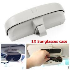 1X ABS Plastic Car Sun Visor Sunglasses Glasses Holder Card Ticket Pen Clip Gray