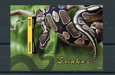 Ghana 2015 MNH Snakes 1v S/S I Royal Python Reptiles