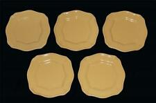 """5 Signature ISABELLA Embossed Gold Bread / Appetizer 6-1/4"""" Plates DISC 2006"""