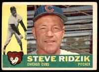 1960 Topps Vg Steve Ridzik Chicago Cubs #489