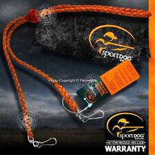 SportDOG SAC00-11768 Braided Leather Double Clip Lanyard for Handhelds, Whistles