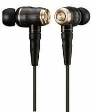JVC HA-FX1100 WOOD series canal type earphone High res sound BLACK Japan Used
