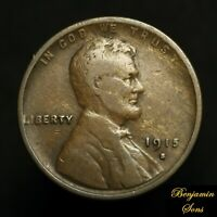 1915-S Lincoln wheat cent 1c 030421-06E Free shipping!