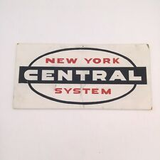 """Vintage New York System Central Wooden Railway Sign 15"""" x 7"""""""