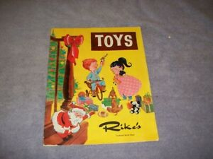 Vintage 1950s 1960s Rikes Toys Catalog Toyland 6th Floor 38 Pages All Toys GC