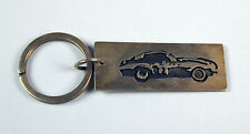Sterling Silver Muscle Car Key Ring Hand Made in the Usa Free Shipping