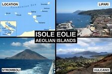 SOUVENIR FRIDGE MAGNET of THE AEOLIAN ISLANDS ISOLE EOLIE ITALY