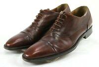 Mezlan Men's $240 Cap Toe Derby Dress Shoes Size 8 Leather Burgundy