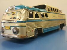 VINTAGE GREYHOUND FRICTION BUS SCENICRUISER HTC TIN MADE IN JAPAN BEAUTIFUL!
