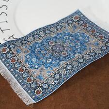 16*9cm Blue Dollhouse Miniature 1:12 Scale Floor Carpet Rug NEW