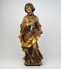 Religiöse Holzfigur Hl. Josef Handwerker, Holz geschnitzt Südtirol