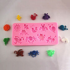 3D Silicone Fondant Decorating Rectangle Animal Insect Modelling Cake Mold DIY