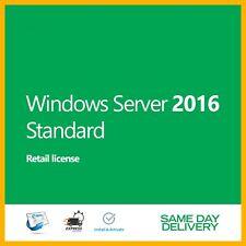 Server 2016 Standard Product Key Activation License