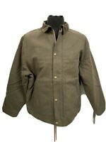 DICKIES Mens Sanded Duck Jacket Sherpa Lined XL Brown New Work Farm Outdoor Coat