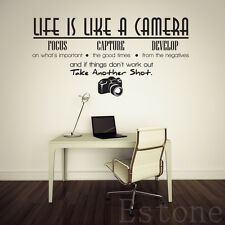 Room Wall Decor Life Is Like A Camera Wall Sticker Decal Quote Vinyl DIY Decal