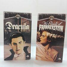 The Bride of Frankenstein & Dracula VHS 1991 Universal Monsters Bela Lugosi