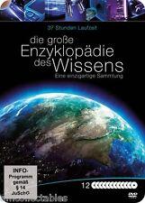 DVD METALLBOX - LA GROßE ENCICLOPEDIA DES CONOCIMIENTO - 12 DVD - 37STUNDEN